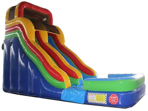 18'H Double Dip Slide Wet n Dry (Rainbow)