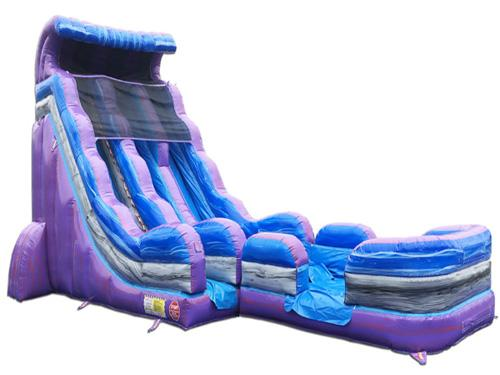 22'H 2-Lane Purple Slide W n D