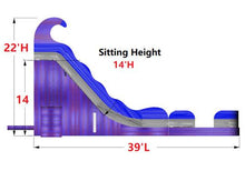 Load image into Gallery viewer, 22'H 2-Lane Purple Slide W n D
