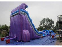 Load image into Gallery viewer, 19'H 2-Lane Purple Slide W n D