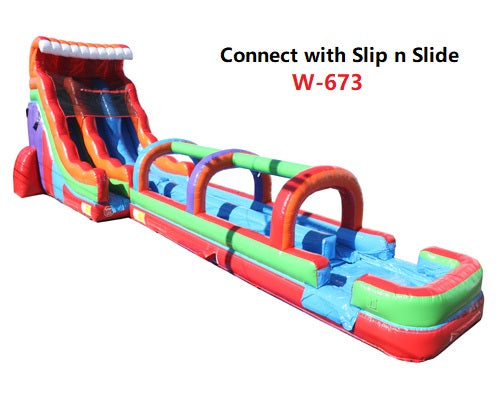 19'H 2-Lane Retro Slide W n D