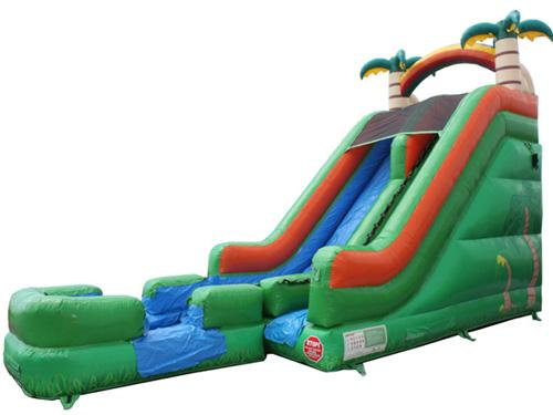 18'H Tropical Slide w/ Removable Pool