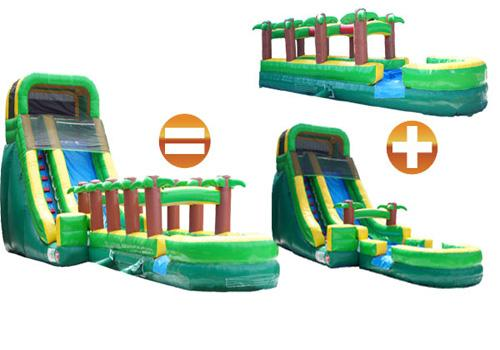 20'H Palm Tree Screamer Slide w/ Slip n Slide