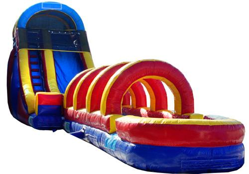 18'H Rainbow Screamer Slide w/ Slip n Slide