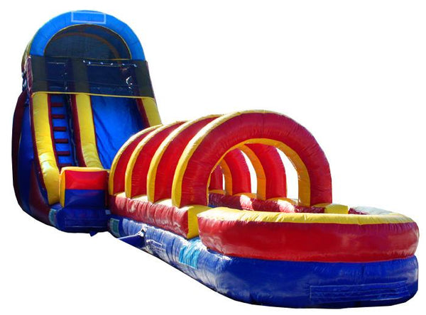 20'H Rainbow Screamer Slide w/ Slip n Slide