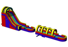 Load image into Gallery viewer, 18'H Rainbow Screamer Slide w/ Slip n Slide