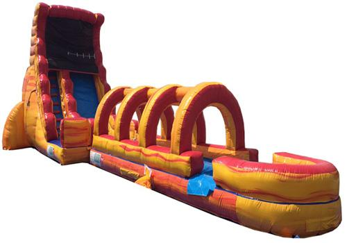 20'H Volcano Screamer Slide w/ Slip n Slide