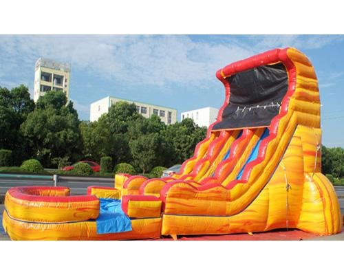 19'H 2-Lane Volcano Screamer Slide w/ Slip n Slide
