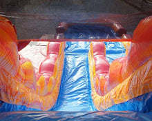 Load image into Gallery viewer, 19'H 2-Lane Volcano Screamer Slide w/ Slip n Slide