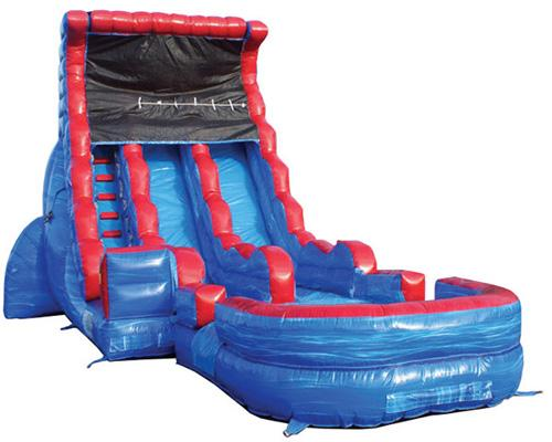 19'H 2-Lane Tsunami Screamer Slide w/ Slip n Slide