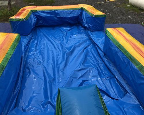 Dual Lane Volcano Slip n Slide w/ Pool