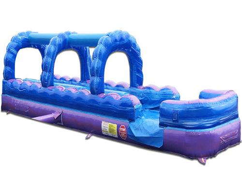 Dual Lane Purple Slip n Slide w/ Pool