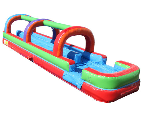 Dual Lane Retro Slip n Slide w/ Pool