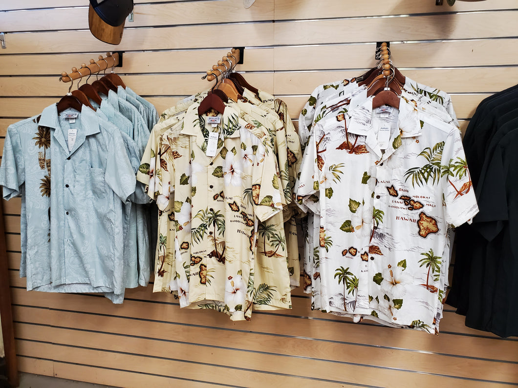 Hawaiian Aloha Shirts with Islands