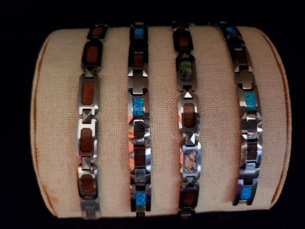Men's Koa and Shell Bracelets