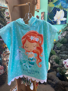 Hawaiian Mermaid Kids Towel Cape