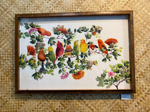 Hand Painted Hawaiian Silk Painting Birds