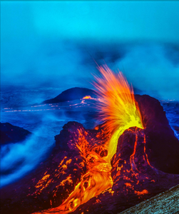 Aloha Hawaiian Lava Fountain Photo