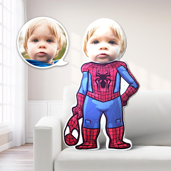 Spiderman Photo Pillow Boy Face Pillow Personalized Men Pillow Custom Boy Pillow Boy Picture Pillow Costume MiniMe Men Costume Pillow Doll