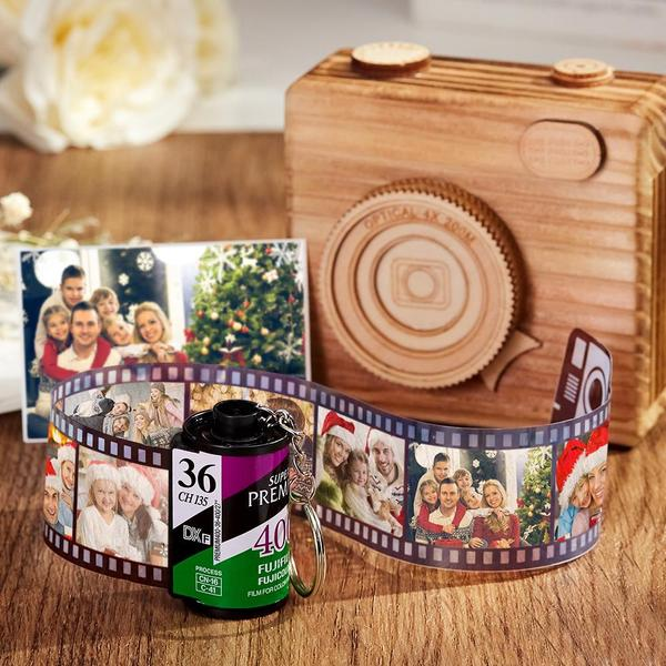 Custom Fuji Camera Roll Keychain Multiphoto Gifts - Family
