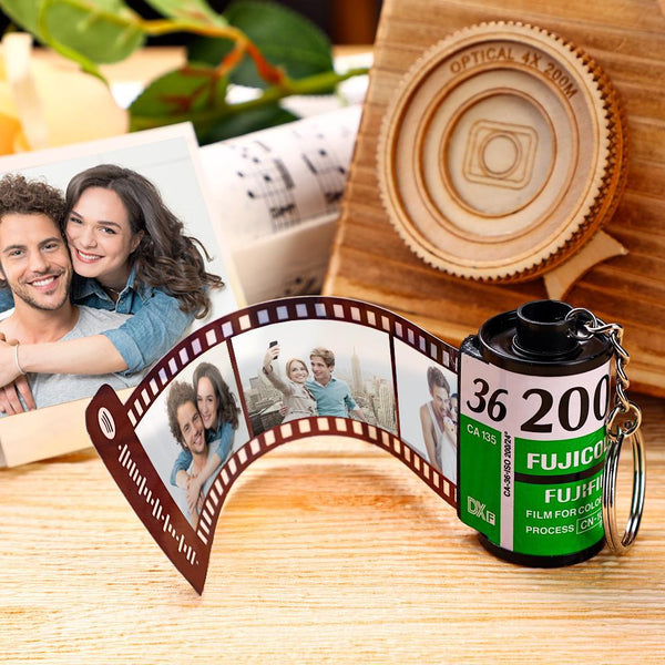 Spotify Code Scannable Custom Camera Roll Keychain Kodak for Love 5-20 Pictures Green Shell