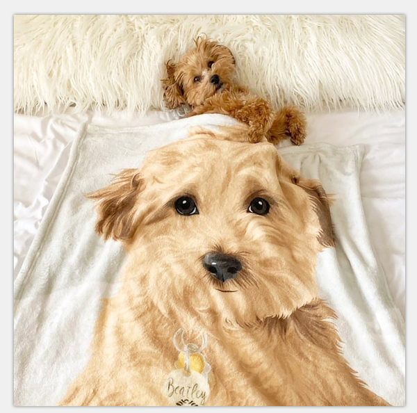 Pet Custom Photo Fleece Blanket