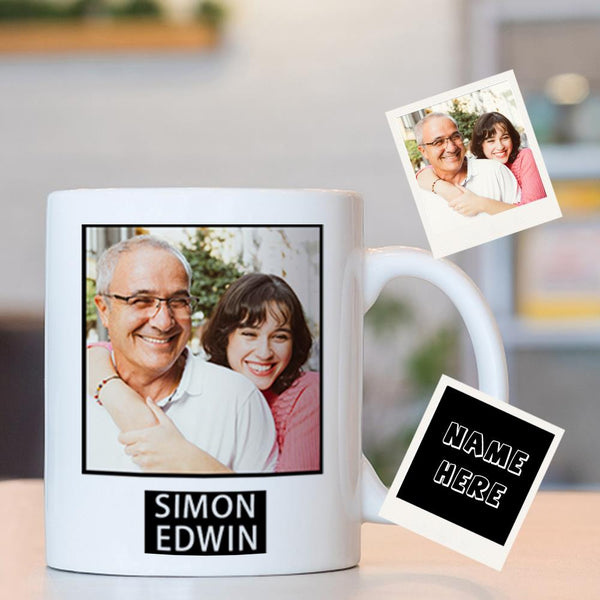 Custom Photo Mug With Your Name - World's Best Dad