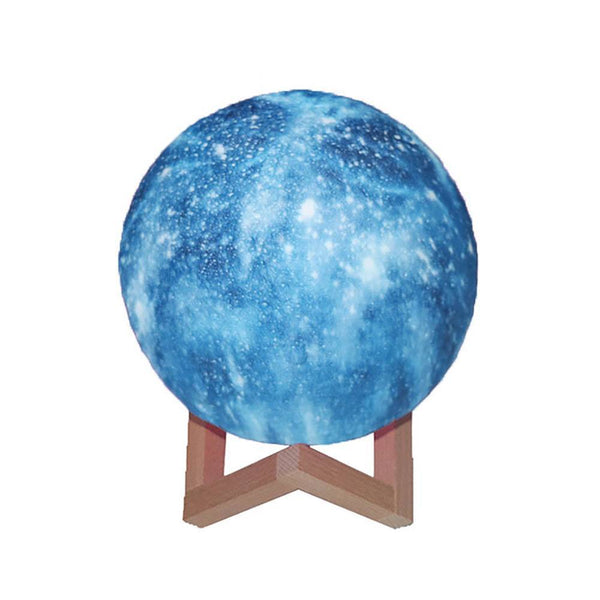 Creative Galaxy Lamp Blue Moon Lamp Colorful 3D Printing Moon Light - Touch Two Colors (10-20cm)
