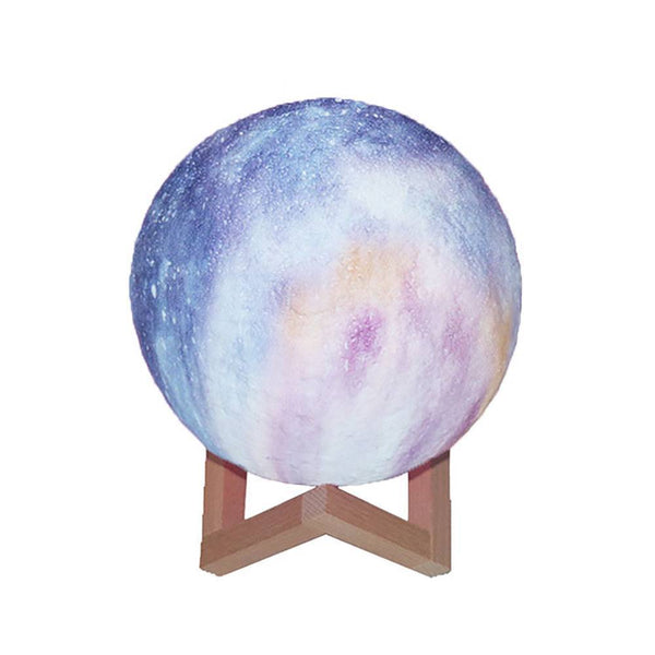 Creative Galaxy Lamp 3D Printing Moon Light - Touch Two Colors (10-20cm)