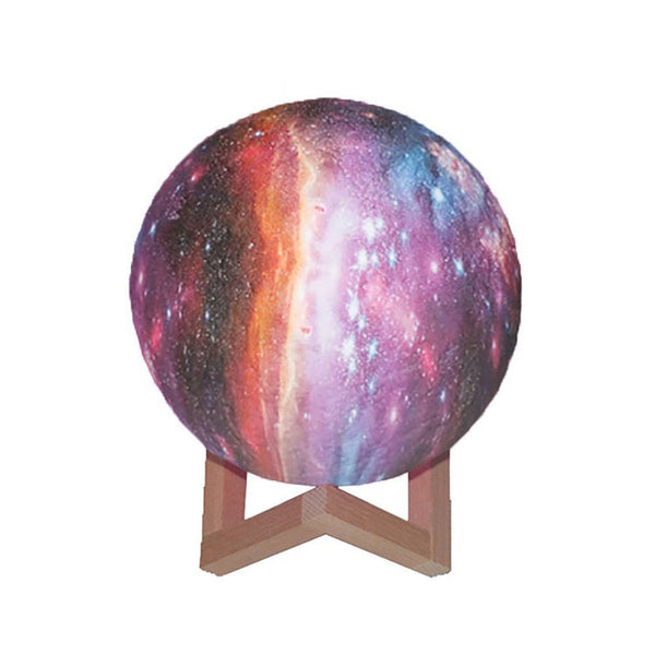 Creative Galaxy Lamp Moon Lamp 3D Printing Moon Light Colorful - Remote Control Sixteen Colors (10-20cm)