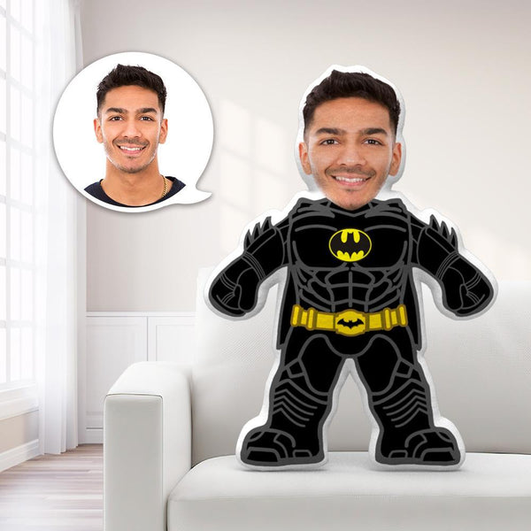 Custom Face Body Toy Batman Throw MiniMe Pillow