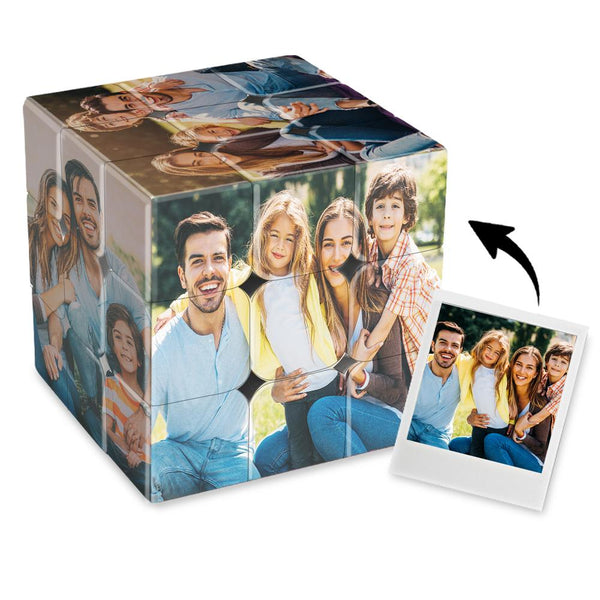 Custom Multi Photo Rubik's Cube - For Family