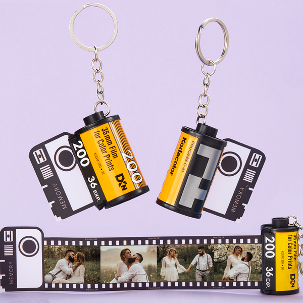 Custom Colorful Camera Roll Keychain - Lovers