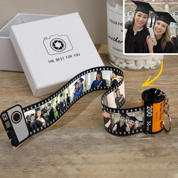 Custom Colorful Camera Roll Keychain - Graduation