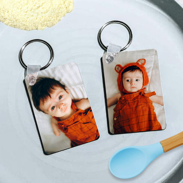 Custom Rectangular Photo Keychain