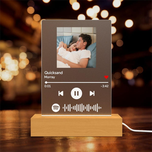 Personalised Spotify Song Player Night Light Wedding Gift Perfect Gift