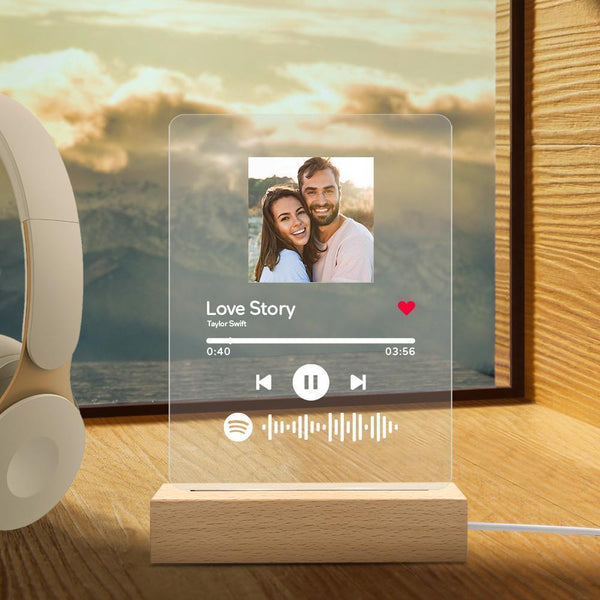 Personalized Spotify Code Music Plaque Night Light(150mm x 195mm)