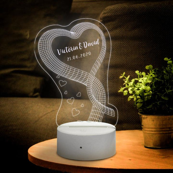 3D Night Light Valentines Day Gift for Love