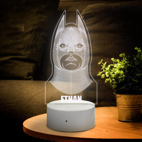 Personalised 3D Illusion Batman With Custom Name Night Light