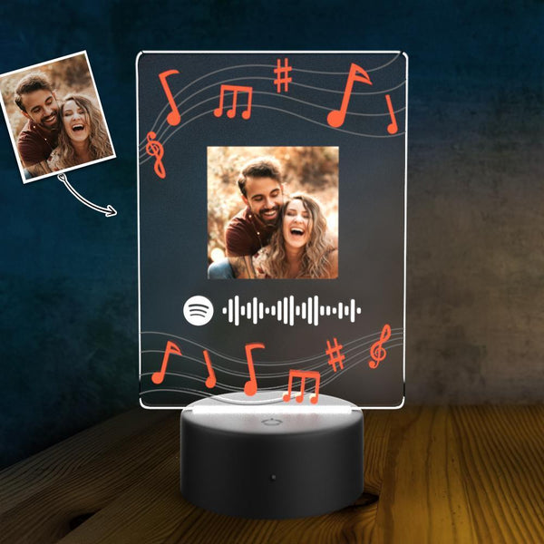 Spotify Led Light Lamp Custom Night Light Music Song Plaque