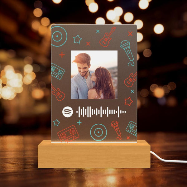 Custom Spotify Song Acrylic Lamp Personalised Lamp Digital Prints Gifts For Her For Him