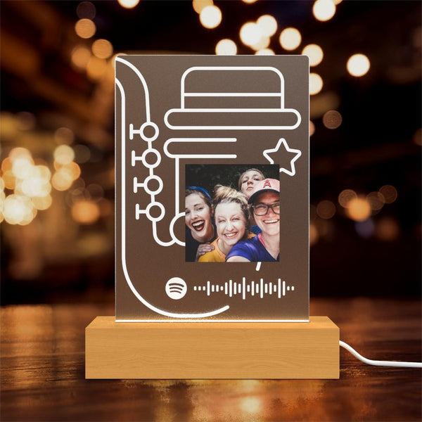 Custom Spotify Glass Led Lamp Gift Personalised Lamp Birthday Gift Night Lights