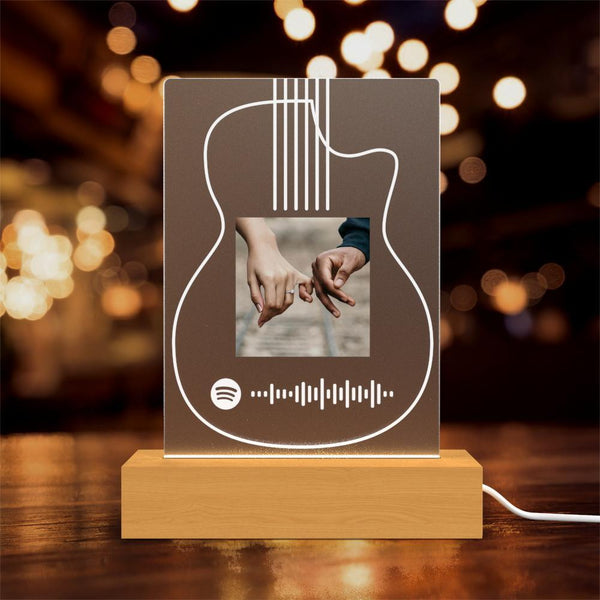 Custom Spotify Lamp with Photo Custom Album Gift For Her Him Personalised Gift