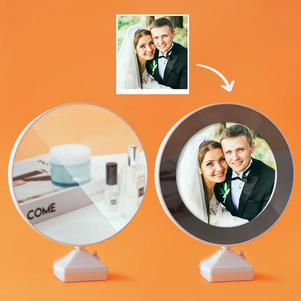 Custom Photo Magic Mirror and Night Light-For Lover