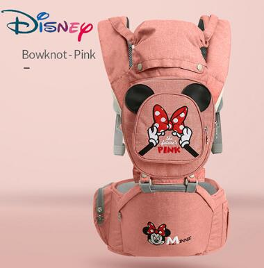 Disney 0-36 Months Bow Breathable Front Facing Baby Carrier Hipseat 20kg Infant Comfortable Sling Backpack