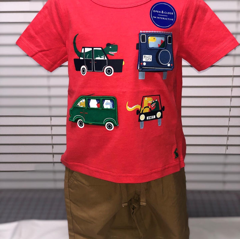 Short Sleeve Red Vehicle shirt