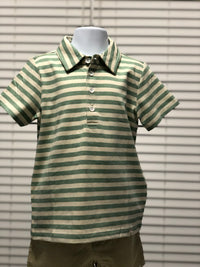 Green Stripe Polo Shirt