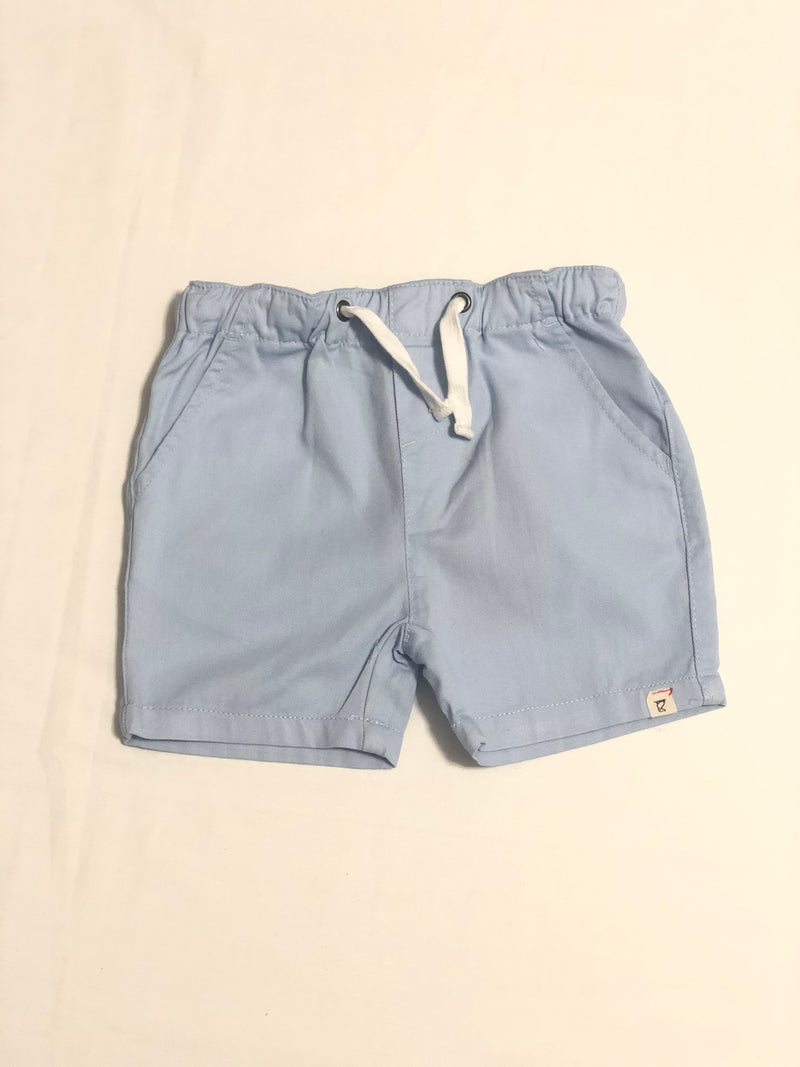 Pale Blue Twill Shorts