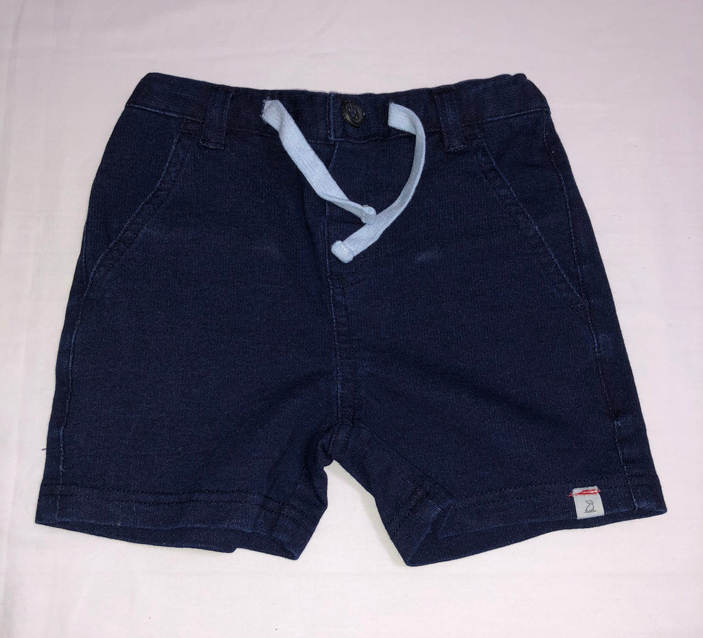 Denim effect shorts