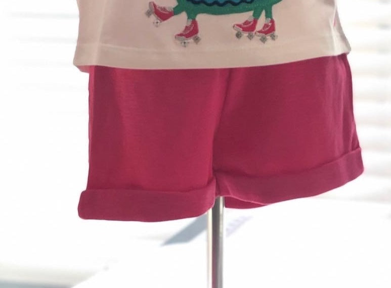 Pink Jersey Shorts
